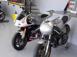 Triump 675 et TZ entièrement refaite par Martini Concept