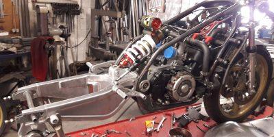 Chassis bras boucles arrières TZ 350 Martini COncept